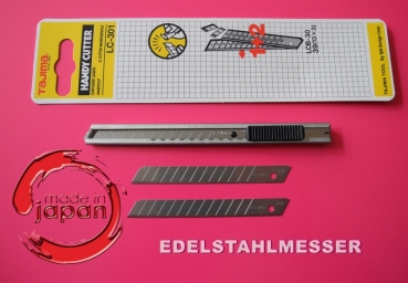 Tajima Edelstahl-Cutter 9 mm LC301B Made in Japan / Handy Cutter / 60° Klinge