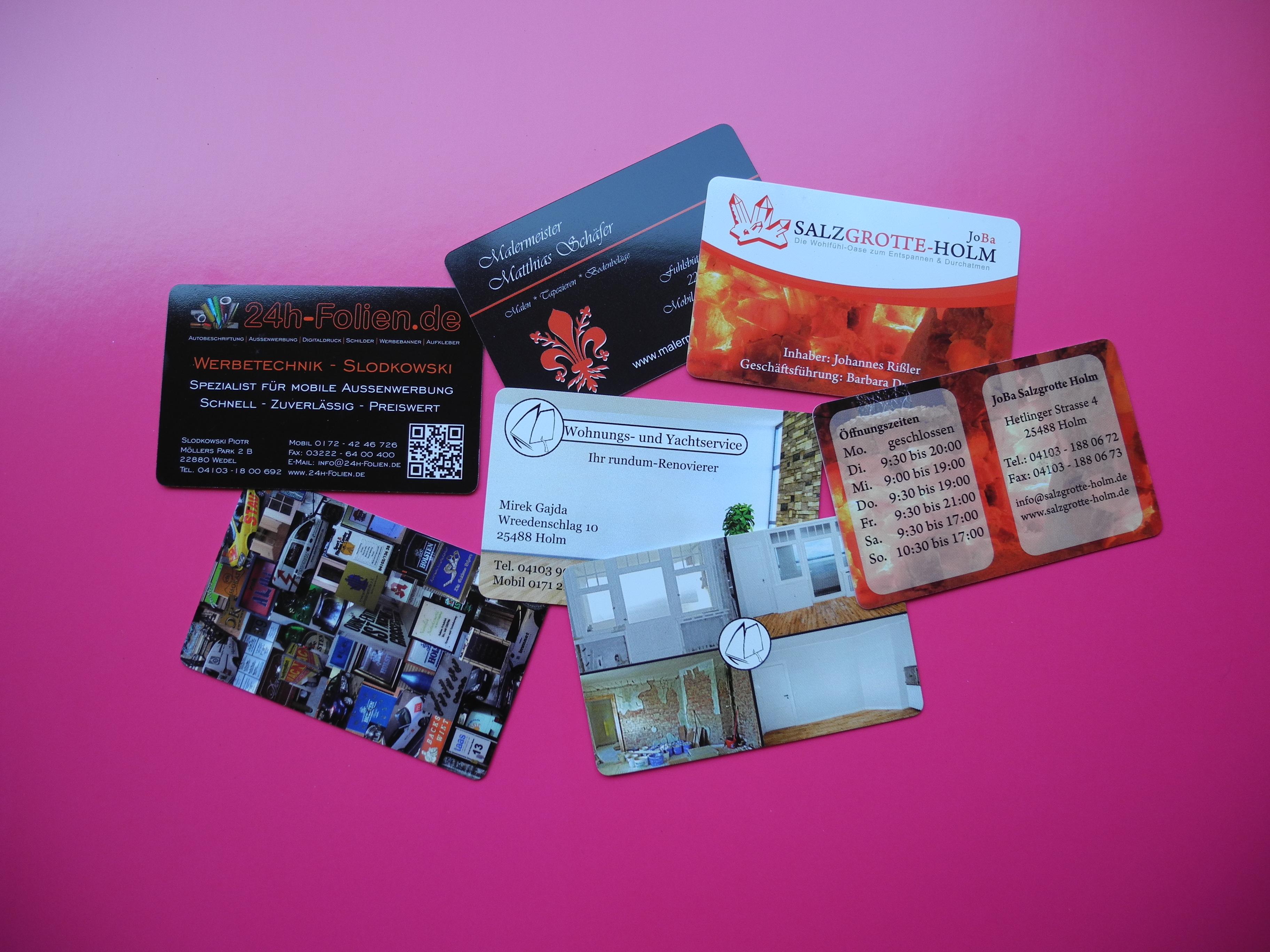 Pvc Visitenkarten 0 7mm Gleiche Stärke Wie Bei Kreditkarten 500 Stück